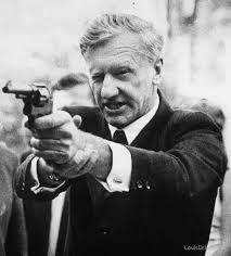 Ian Smith with revolver : Rhodesia