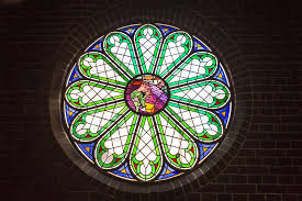 colorful glass window stained glass