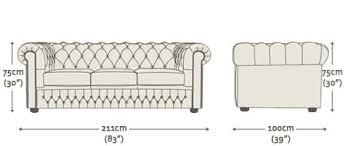 klippan 3 seater sofa dimensions