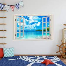 East Urban Home Tropical Beach 3d Wall Decal Wayfair