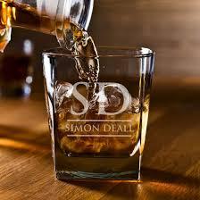 engraved man cave scotch glass