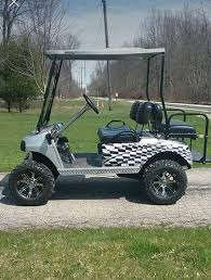 Large Golf Cart Checkered Flag Rear Fender Wrap Graphics Decal Etsy