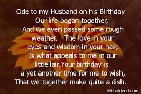 husband birthday poems