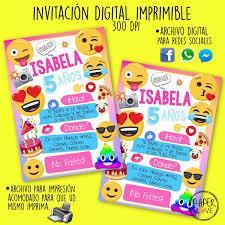 Emoji Personalizado Invitaciones Fiesta De Cumpleanos Nino