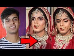 boy to hindu indian bridal makeup