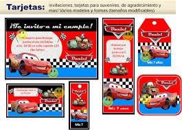 Idea Invitaciones Unica Personalizadas De Cars Para Imprimir