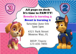 Diy Paw Patrol Syke And Chase Joint Party By Partyallsortsdesigns