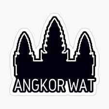 Angkor Wat Siem Reap Cambodia Sticker By Madtoyman Redbubble