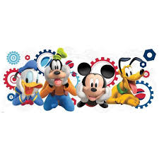 Roommates 5 In X 19 In Mickey Friends Mickey Mouse Clubhouse Capers Peel And Stick Giant Wall Decal Rmk2561gm The Home Depot