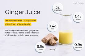 ginger juice nutrition facts calories