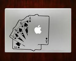 Playing Cards Macbook Decal Stickers Macbook Decal Stickers Macbook Decal Macbook Stickers