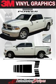 2009 2018 Dodge Ram 1500 Vinyl Graphics Power Side Decals Hood Stripes 3m Wet Ebay