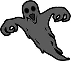 Amazon Com Scary Spooky Creepy Halloween Ghost Vinyl Sticker 12 Tall Black Grey With Red Eyes Kitchen Dining