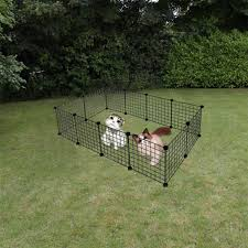 Lavany Small Pet Playpen Diy Metal Small Animal Cage Wire Yard Fence For Small Animals Fence Exercise Cage 12 Panels Outdoor Pens Hutches