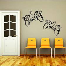 Wall Decals Game Controllers Joystick Gamer Gaming Video Game Kids Children Gift Nursery Boys Room Wall Vin Nursery Room Boy Bathroom Vinyl Wall Decor Stickers