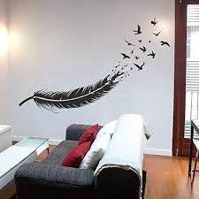 Amazon Com Birds Of A Feather Wall Decal Bird Wall Decal Boho Wall Decal Feather Gifts Boho Bedroom Decor Boho Wall Decor Feather Bohemian Decor Home Kitchen