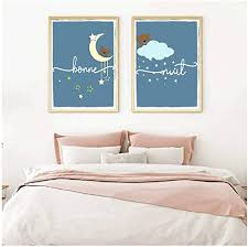 Amazon Com Nordic Art Poster Wall Art Printable Pictures Kids Room Poster Decor Nordic Baby Nursery Canvas Painting Print 40x50cm No Frame Posters Prints