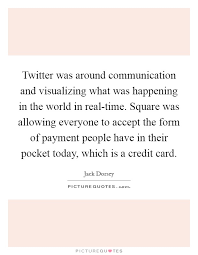twitter was around communication and visualizing what was