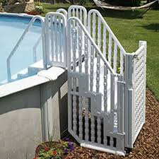 Want It Pool Ladder Bridge Above Ground Pool Ladder System With Gate By Asia Connection American S Above Ground Pool Steps Swimming Pool Steps Pool Steps