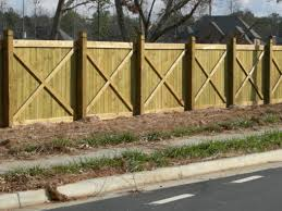 X Brace Privacy Fence Apex Fence Company