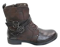 punk rock goth elmo ankle boots brown