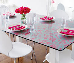printed glass table top can change your