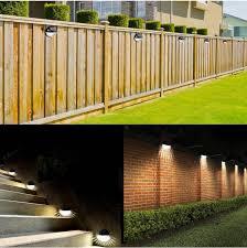 Garden Fence Solar Lights Pack Of 2