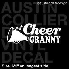 6 5 Cheer Granny Vinyl Decal Car Window Laptop Sticker Cheerleader Squad Ebay