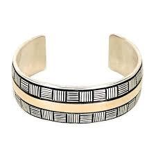 Navajo Signed Ivan Howard 14K YG Sterling Bracelet Cuff – The Relux