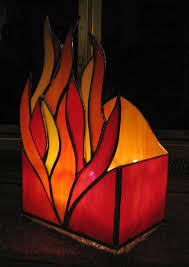 candle holder stained glass votive