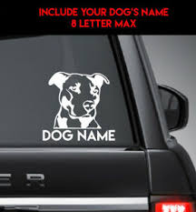 Pitbull Custom Name Vinyl Decal Sticker Car Truck Wall Ebay