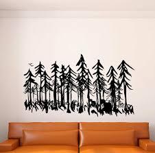 Loon Peak Dormarion Pine Evergreen Tree Forest Wall Decal Wayfair
