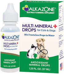 Amazon.com : Alkazone Alkaline Multi Mineral Drops for Cats and Dogs    Mineral Rich Alkaline Drops   Tasteless & Flavorless   1 Pack Yields 10  Gallons   Serving Size 3 Drops   120 Serving (1 Pack) : Pet Supplies