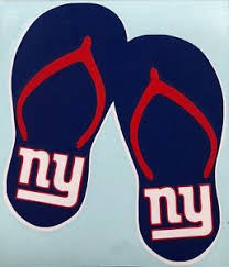 Ny Giants Flip Flops Vinyl Decal Ebay
