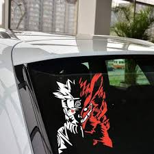 Naruto Reflective Car Stickers Laptop Decal The Fullmetal