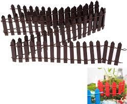 Amazon Com Datingday 40 Inch Length Miniature Wooden Fence Fairy Garden Ornament Diy Micro Landscape Accessories Garden Outdoor