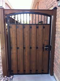 Steel Man Gate With Wood Www Forzametal Com House Gate Design Wooden Garden Gate Door Gate Design