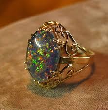 huge black opal ring box vintage 6