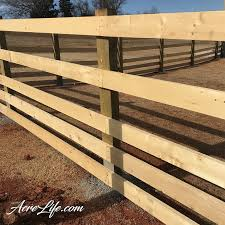How To Build A Split Rail Fence Acre Life Diy Project