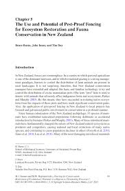 Pdf The Use And Potential Of Pest Proof Fencing For Ecosystem Restoration And Fauna Conservation In New Zealand