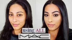 all m a c cosmetics makeup tutorial