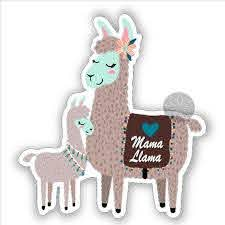 Mama Llama Mother And Baby Vinyl Sticker Car Stickers Laptop Etsy