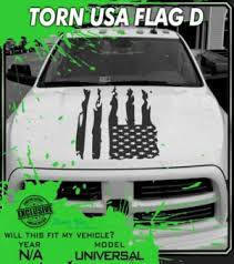 Tattered American Flag Decal Truck Decals Custom Graphics For Muscle Cars Elite Limit