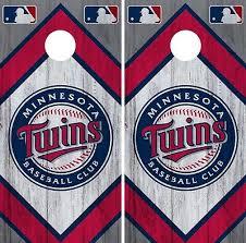 Minnesota Twins Cornhole Wrap Mlb Vintage Game Board Skin Set Vinyl Decal Co418 Ebay