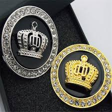 New Metal Royal Crown Gold And Good Quality Metal Autolobiles Exterior Sticker Silver Luxury Vip Emblem Car Badge Decal Sticker Car Stickers Aliexpress