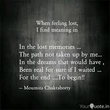 in the lost memories quotes writings by moumita