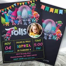 Invitacion De Cumpleanos De Trolls Bobotemp