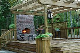 outdoor fireplace safe for wood deck