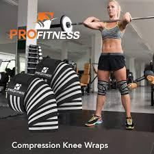 profitness weightlifting knee wraps