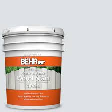 Behr 5 Gal W F 520 Ash White Solid Color House And Fence Exterior Wood Stain 01105 The Home Depot
